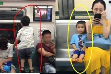 一節車廂,兩種教育:孩子的表現中,藏著父母的教養
