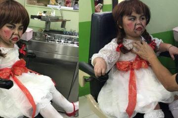 萬聖節到了!「安娜貝爾」帶妝直接上醫院,醫生看診笑到手抖