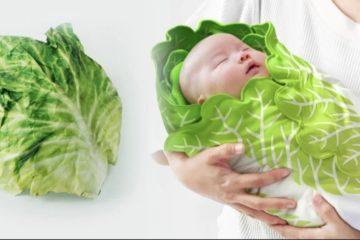 可愛「白菜寶寶包巾」爆紅!5400萬媽媽被萌到:好想買